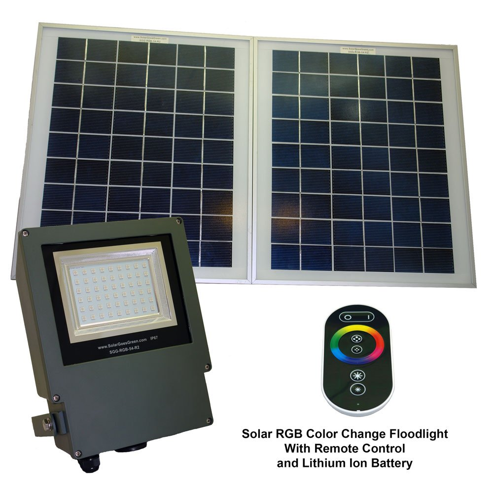 Solar Goes Green LED Color Selectable Flood Light by Solar Goes Green