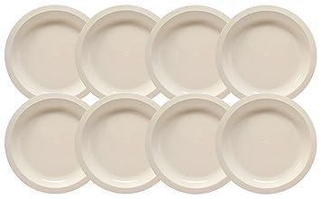 Set of 8 White Microwavable Plastic Plates - 10 Inch Black Duck Brand (8)  sc 1 st  Amazon.com & Amazon.com: Set of 8 White Microwavable Plastic Plates - 10 Inch ...