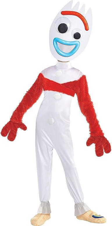 Party City Toy Story 4 Forky Disfraz Para Niños Incluye Un Mono Una Máscara Guantes Un Envoltorio Y Más Clothing