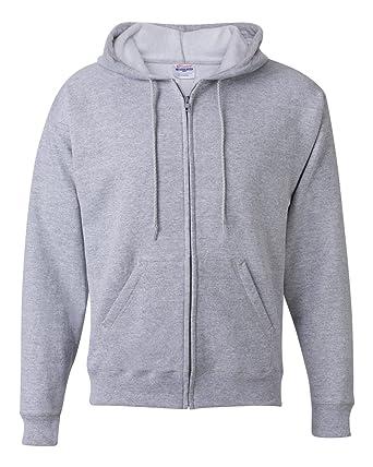 8612f4a9 Hanes Men's Full-Zip EcoSmart Fleece Hoodie (Large, Slate Grey) at Amazon Men's  Clothing store: