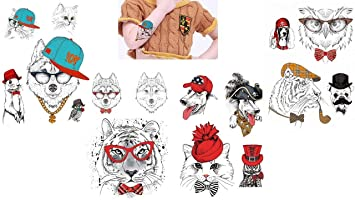 Animal Tatuajes Perros Tatuajes Multicolor 4 hojas Juego para ...