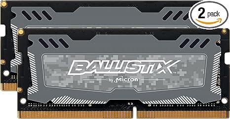 16GBx2 Crucial Ballistix Sport LT 2666 MHz DDR4 DRAM Laptop Gaming Memory Kit 32GB CL16 BLS2K16G4S26BFSD Gray