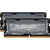 Ballistix Sport LT DDR4 x 8 SODIMM 260-Pin - BLS4G4S240FSD (Gray) 16GB Kit (8GBx2) Single Rank