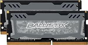 8GBx2 Gray Crucial Ballistix Sport LT 2666 MHz DDR4 DRAM Desktop Gaming Memory Kit 16GB CL16 BLS2K8G4D26BFSB