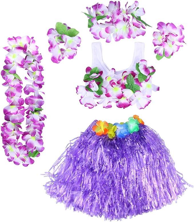 BESTOYARD Conjunto de Falda de niña Hula Grass Conjunto de Falda ...