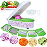 LHS Vegetable Chopper, Pro Onion Chopper Slicer Dicer Cutter - Cheese & Veggie Chopper - Food Chopper Dicer with 5 Blades