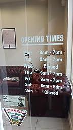 V c designs ltd tm personalised customised opening hours for Vinyl window designs ltd complaints