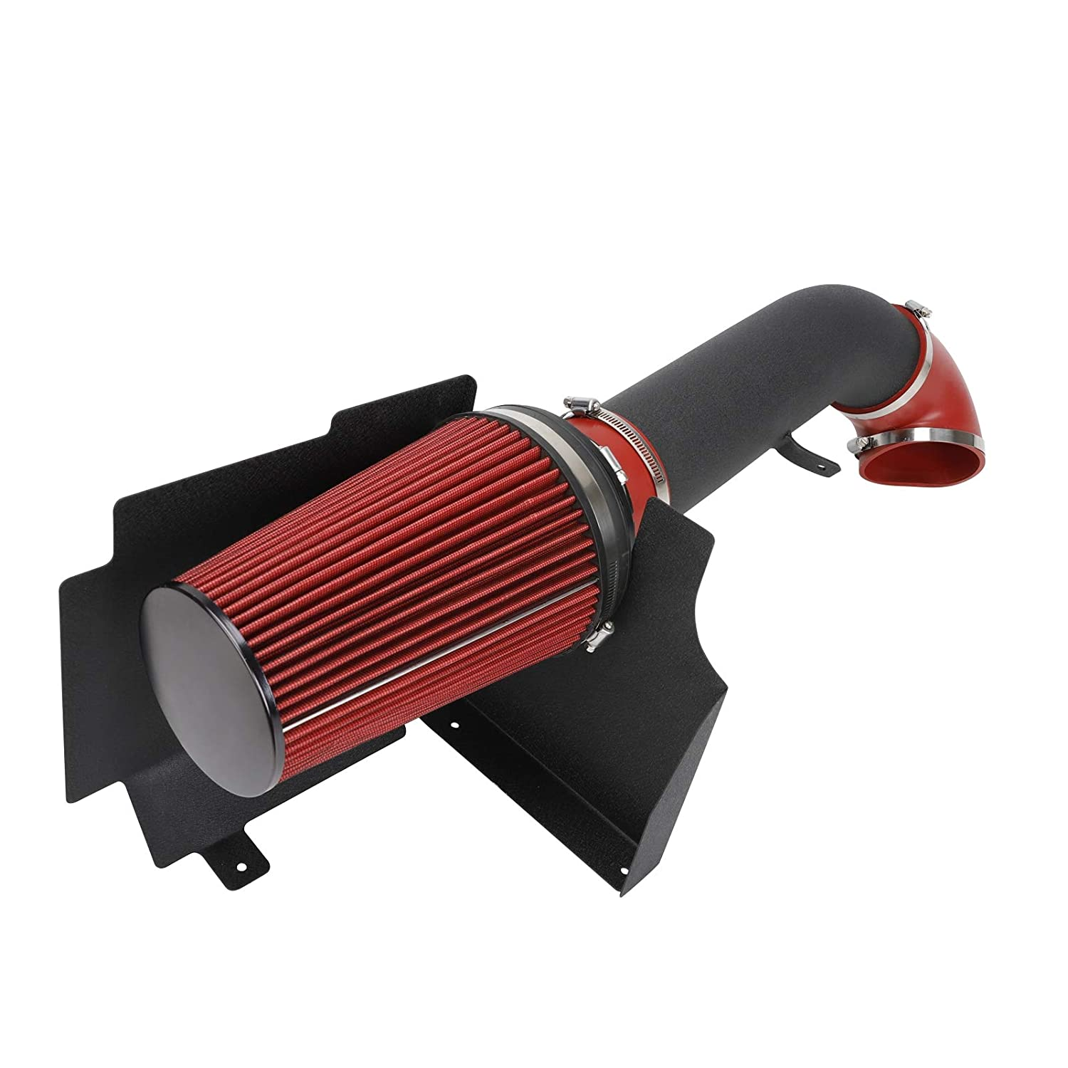 Superfastracing 4 Cold Air Intake System Red Silverado 1500//2500//3500 Heat Shield For 99-06 GMC//Chevy V8 4.8L//5.3L//6.0L