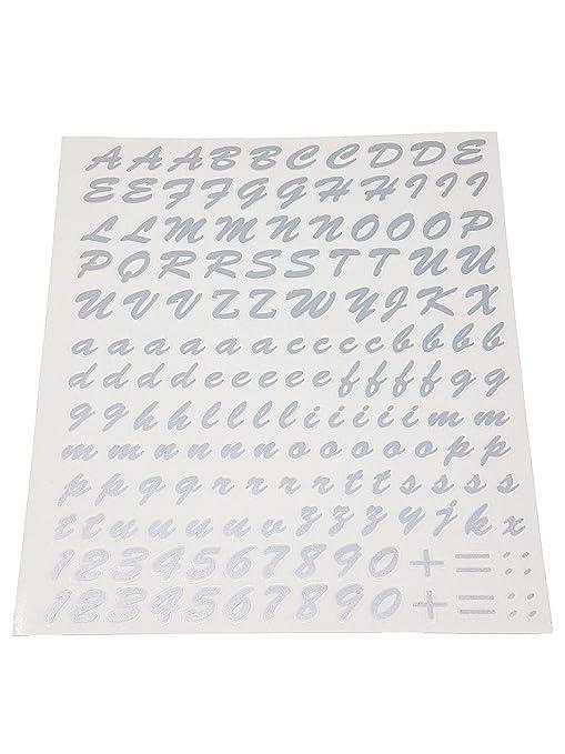 Quattroerre 1234 Kit Lettere Adesive Argento Amazonit Auto E Moto