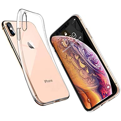 2c9af11931 UNBREAKcable iPhone XS Case iPhone X Case - Crystal Clear, Ultra-Thin Slim  Soft TPU Silicone Protective Transparent Case Cover for iPhone XS iPhone X:  ...