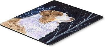 Carolines Treasures SS8375MP Starry Night Australian Shepherd Mouse Pad//Hot Pad//Trivet Multicolor Large