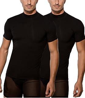 847e1fc3974c1b Doreanse Herren Shirt Halbkragen T-Shirt Sportshirt Mens Muscle Fit T-Shirt  High-