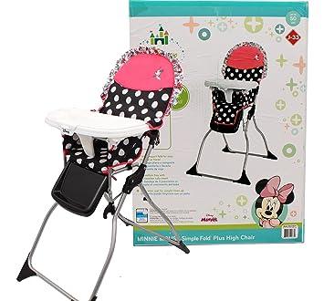 Superb Disney Baby Minnie Mouse Coral Flowers Fast Pack High Chair Customarchery Wood Chair Design Ideas Customarcherynet