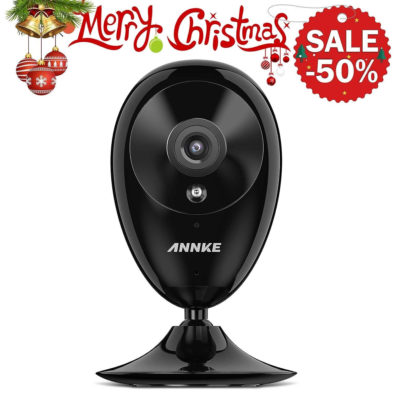 ANNKE Nova S 1080P - Cámara de Seguridad para el Hogar Smart Wi-Fi aplicación de detección de movimiento para las notificaciones push, cámara de seguridad interior de visión diurna y nocturna