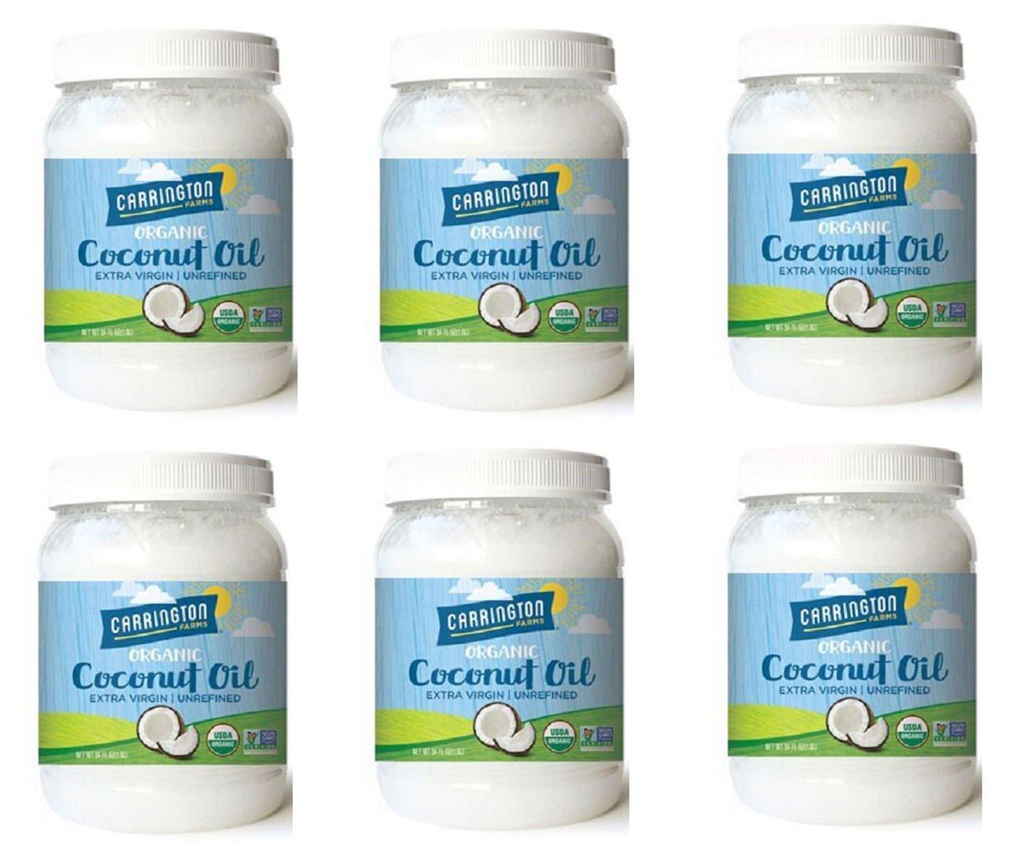 Carrington Farms Organic Extra Virgin Coconut Oil, 54 Ounce, 6 Pack by Carrington Farms (Image #1)
