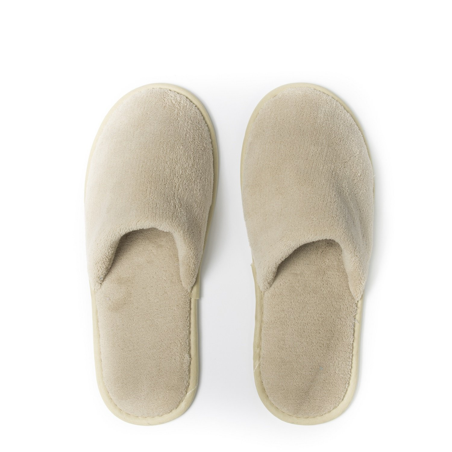 Julitrip Men and Women Cotton Coral Fleece Spa Slipper Houses Slippers White