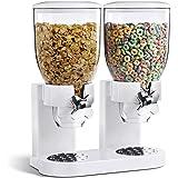 SQ Professional Dispensador doble para cereales y otros alimentos, de plástico, color blanco
