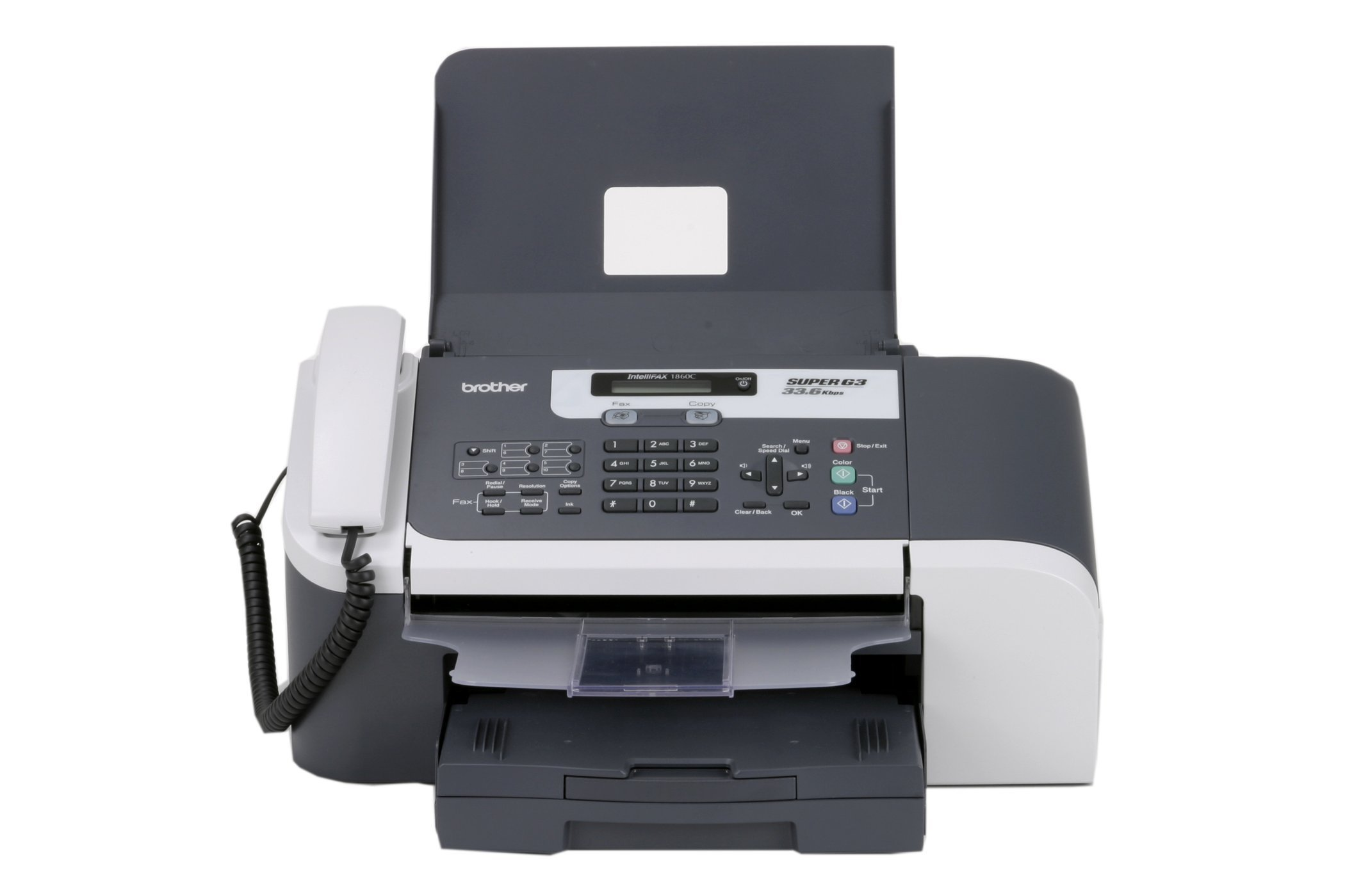 Brother FAX-1860c Color Inkjet Fax, Copier, Phone by Brother