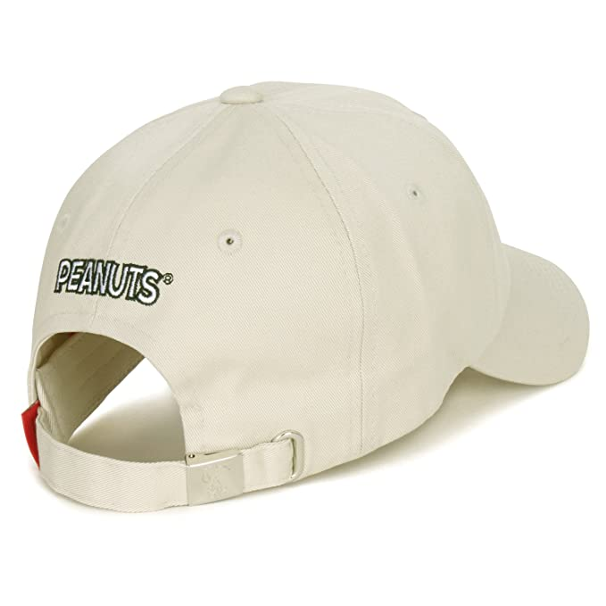 1f974388e1f Peanuts Cotton Solid Color Cute Snoopy Embroidery Curved Casual Hat  Baseball Cap