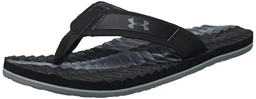 649fd7e6bb2e Under Armour Men s UA M Marathon Key III T Beach   Pool Shoes Black ...