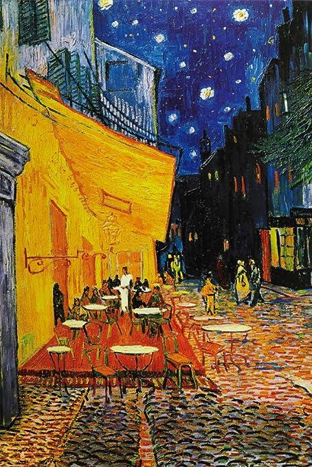 1art1 Vincent Van Gogh Terraza De Café Por La Noche Place Du Forum Arlés 1888 Póster 91 X 61cm