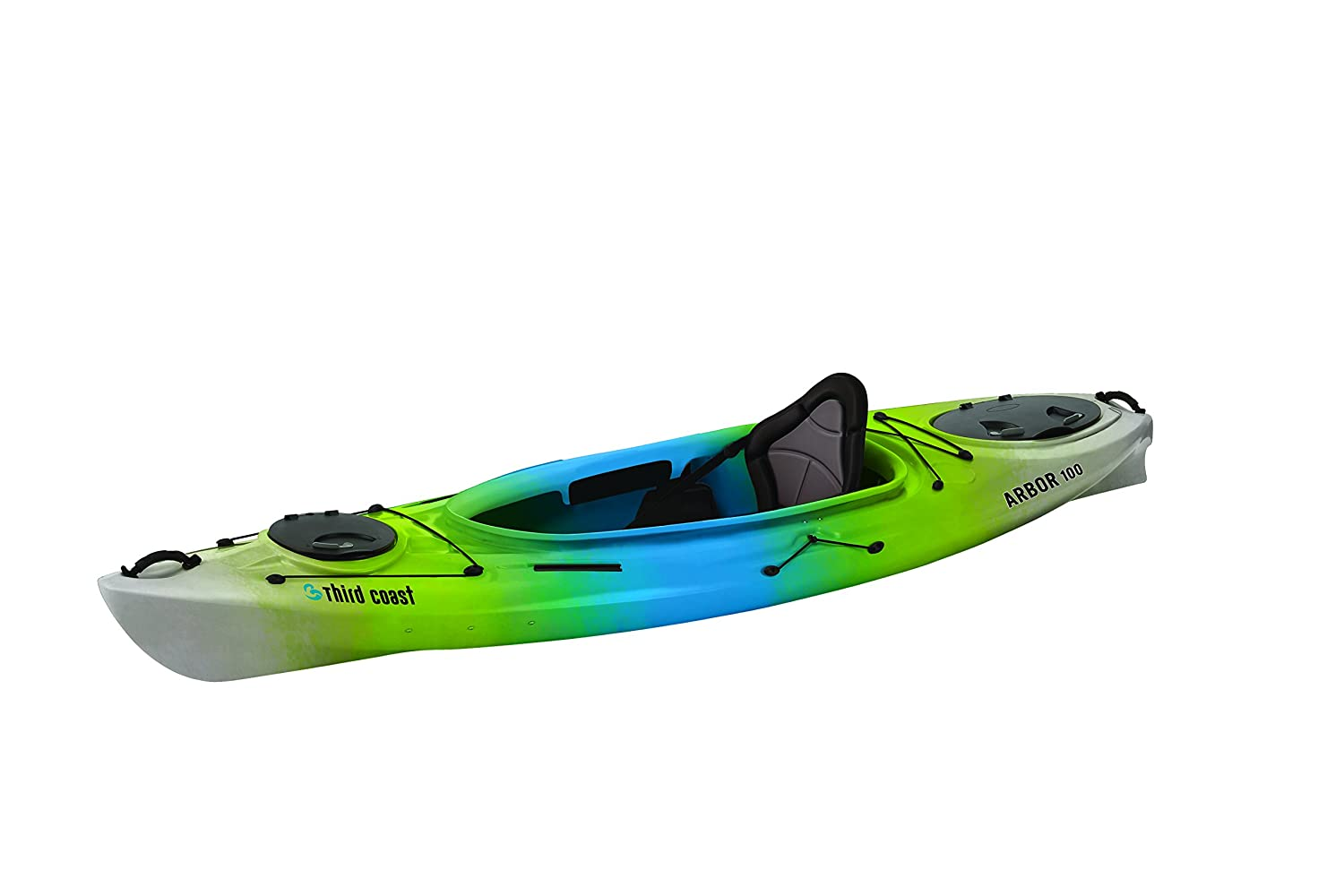 Third Coast Arbor 100 Sit in Recreational Kayak Citron Blue White