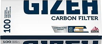 Gizeh 800300012 - Tubos con filtro de carbón activo, caja de 100 cigarrillos vacíos: Amazon.es: Salud y cuidado personal