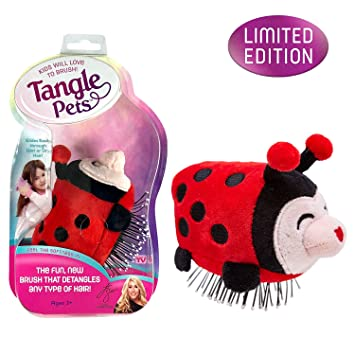 amazon com tangle pets lizzy the ladybug the detangling brush in