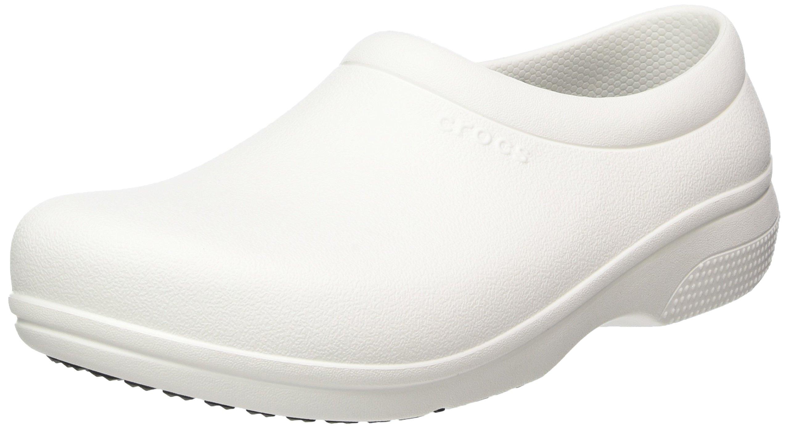 Crocs On The Clock Work Slipon Medical Professional Shoe, White, 13 US Men/ 15 US Women M US by Crocs