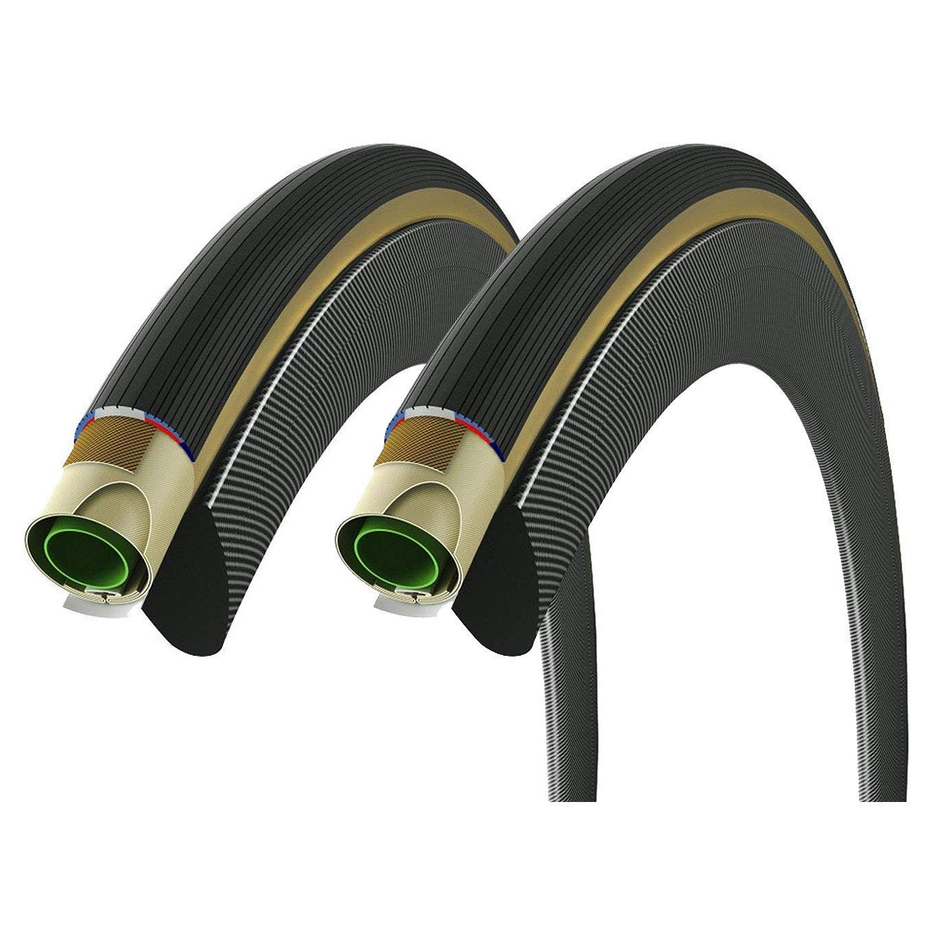 Black//Tan 700 x 23mm Vittoria Pista Open Graphene 2.0 Folding Clincher Tyre