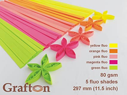 5 mm Tones of Green 100 Quilling Strips