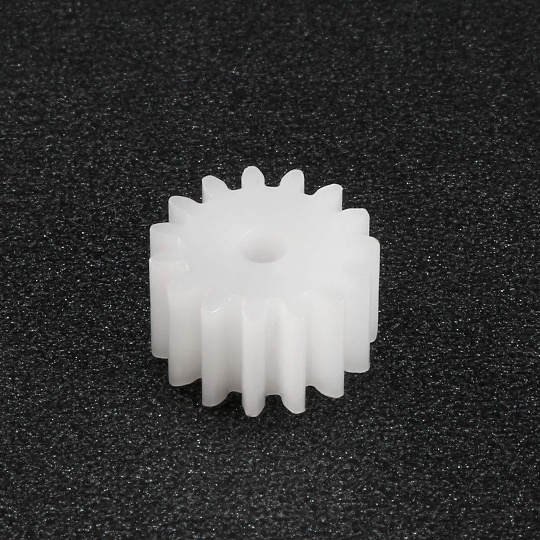 081.5A Kunststoff Zahnrad Spielzeug Zubehörteil 8 Zahn Auto Roboter Motor 20stk