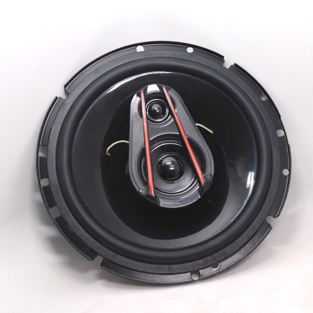 Pair Car Sound Speaker 6.5 Inch Full Range Car Speaker 3 Ways Coaxial Car Speakers-Set of 2 OMV International Limited 4350460126