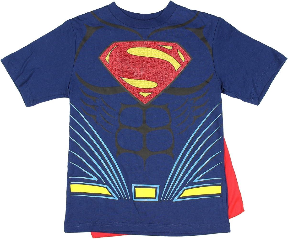 Amazon Com Dc Comics Superman Costume With Cape Boys Graphic T Shirt Xxl 18 Clothing