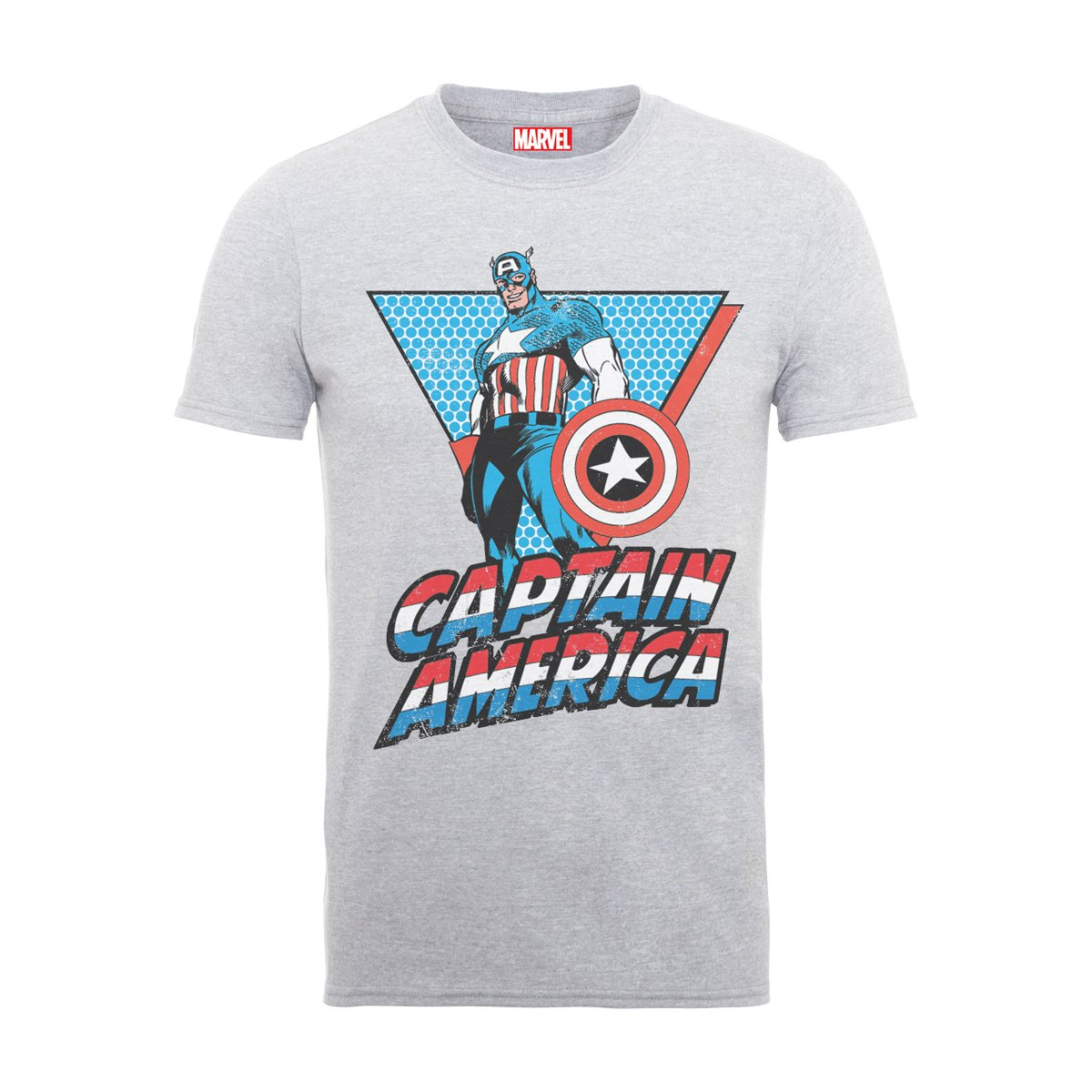 Marvel Classics Captain America Triangle, Camiseta para Hombre BILMC00050-WHITE