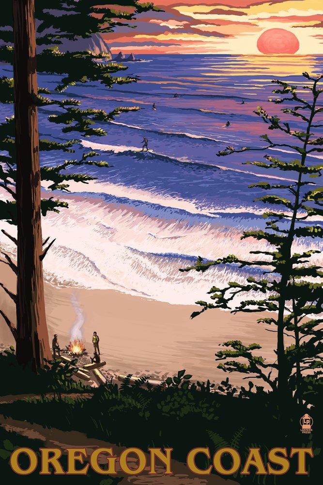高級ブランド Oregon Coast Sunset Surfers Print Canvas Giclee 24 Tote Bag LANT-31574-TT B00N5CI7BO 16 x 24 Giclee Print 16 x 24 Giclee Print, 防水防ダニ寝具専門店しろくまケア:994dec71 --- vilazh.indexis.ru:443