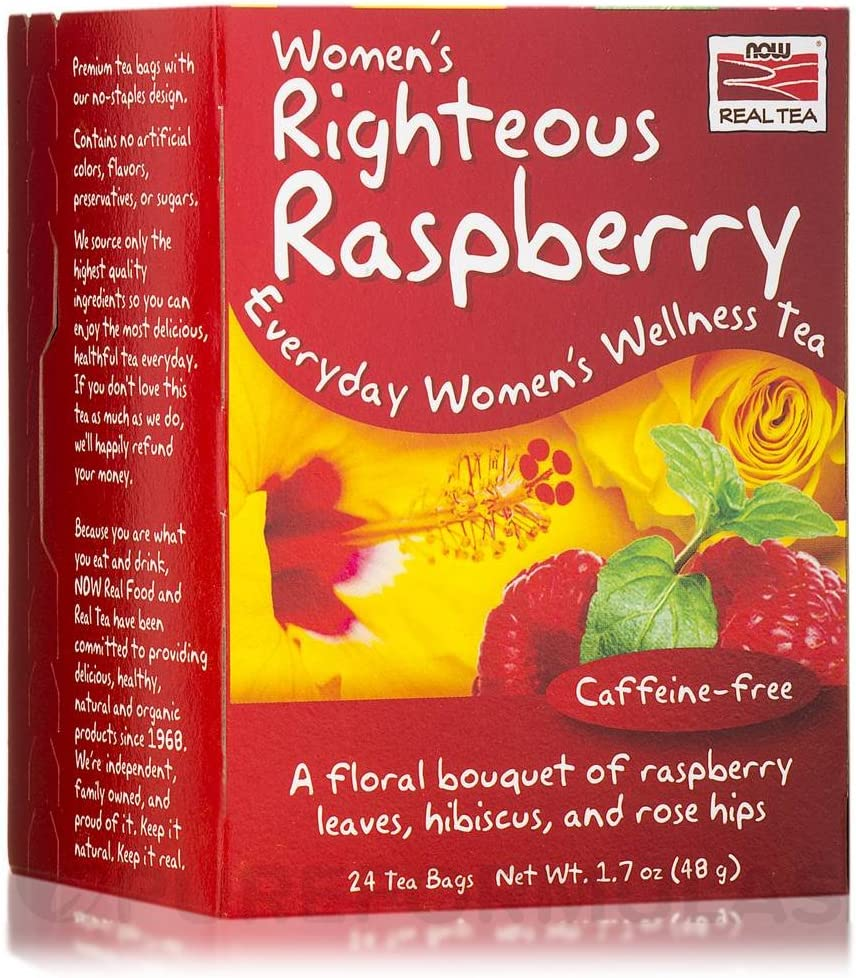 Women s Righteous Raspberry Tea Now Foods 24 Bag