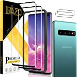 [2+2 Pack] BAZO Tempered Glass Screen Protector and Camera Lens Protector for Samsung Galaxy S10+/Samsung Galaxy S10 Plus (6.