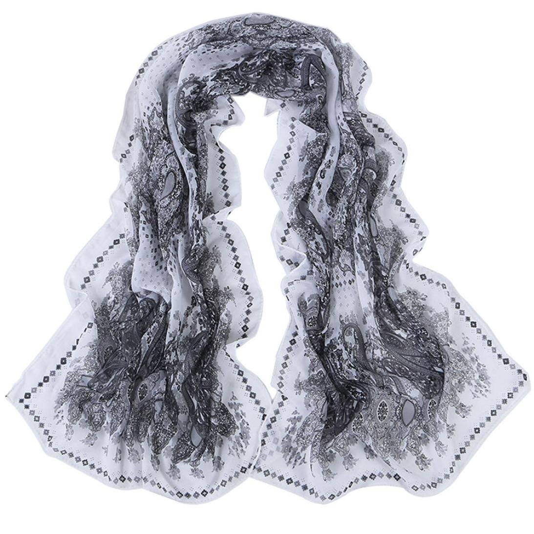 styleBREAKER Echarpe tube - Femme - Motif ethnique 01016014 · Internet  Femmes Wrap doux longue écharpe Mesdames châle mousseline de soie foulards  160   50CM dc20869d66a