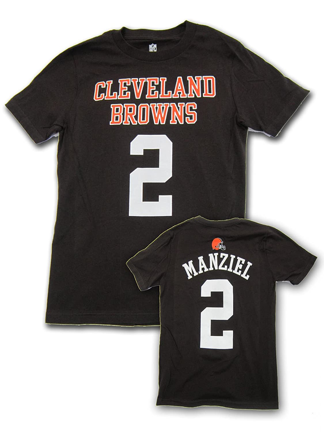 check out 8c56b f75dd Outerstuff Johnny Manziel Cleveland Browns Youth Jersey Name and Number  T-shirt