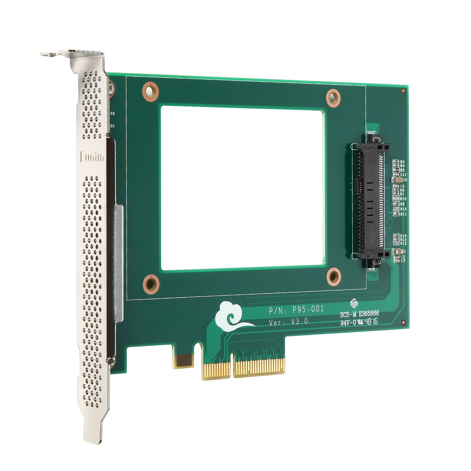 Funtin PCIe NVMe SSD Adapter with U.2 ( SFF-8639 ) Interface for 2.5'' NVMe SSD
