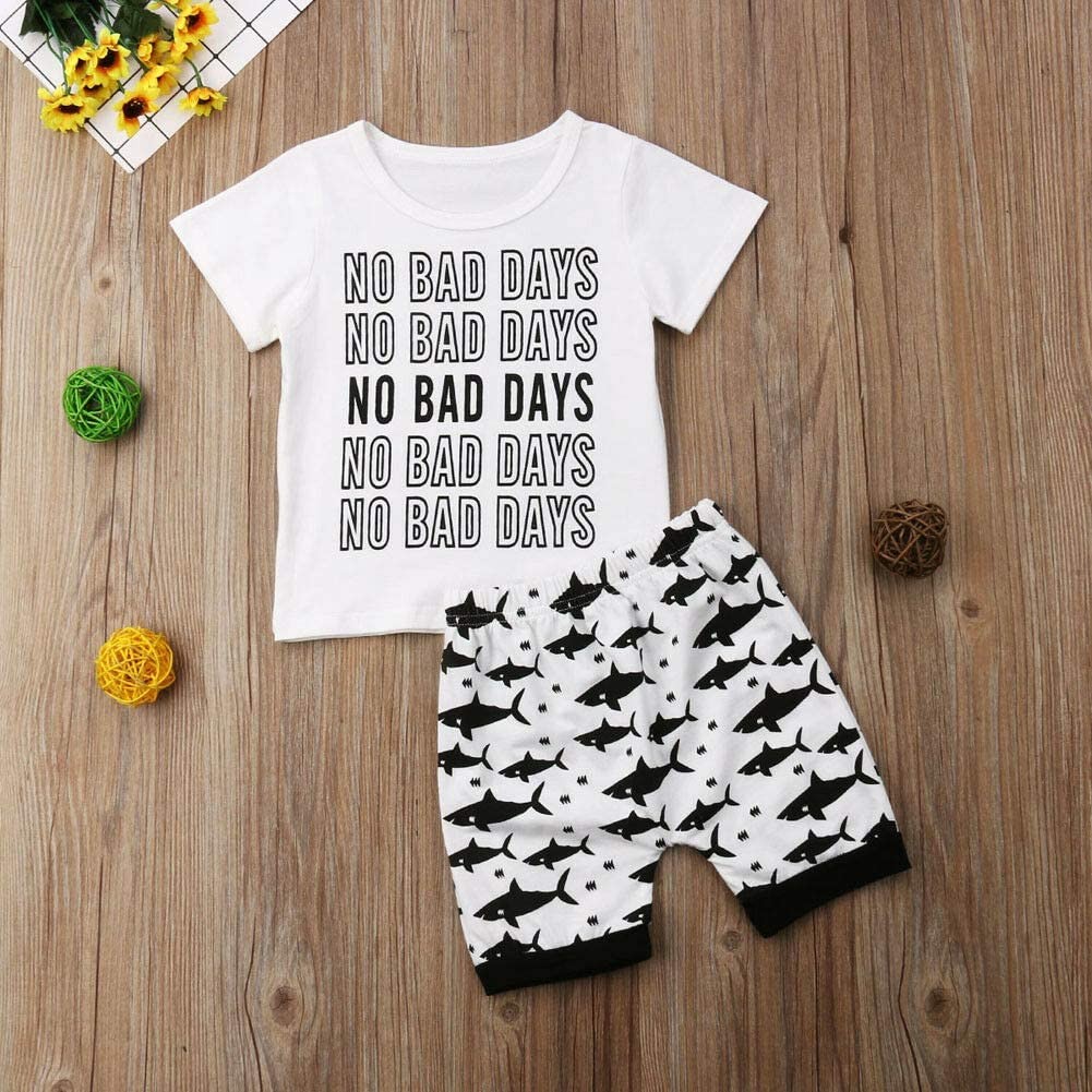 Toddler Baby Boys Casual Short Sleeve T-Shirt Shorts Summer Outfits Set Clothes