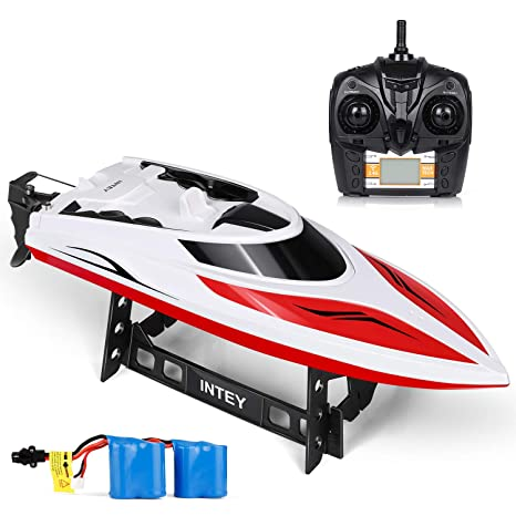 Intey Remote Control Boats Easy To Use For Kids Adult Run Fast In H102 20 Mph For Pool Lakes Speed Boat With 4 Channel Capsize Recovery