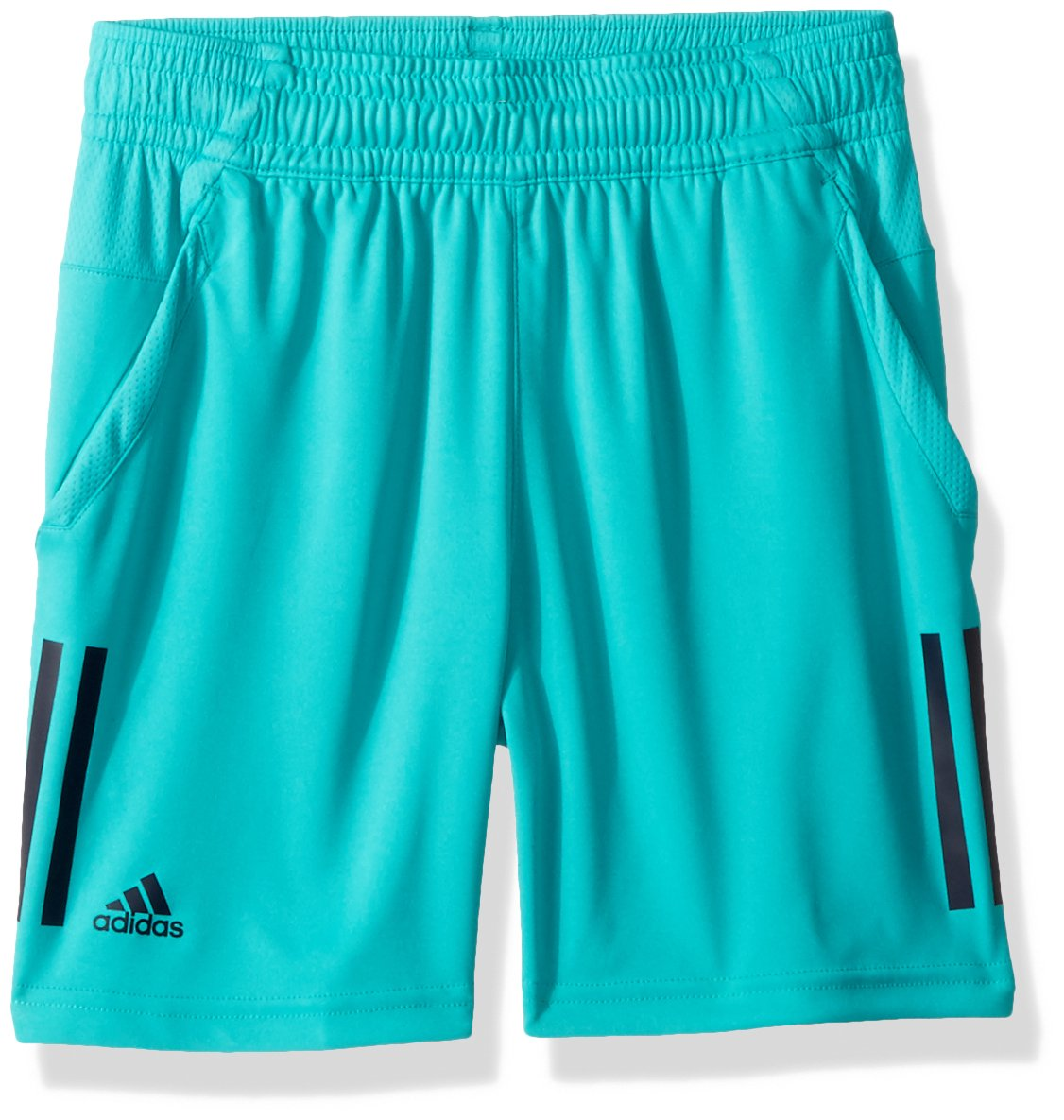 adidas Youth Tennis 3 Stripes Club Shorts, Hi-Res Aqua, X-Small
