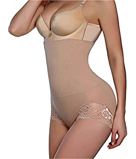 4b7237c9dd GAODI Women Body Shaper Butt Lifter Hi-Waist Panty Seamless Waist Trainer  Tummy Control Shapewear