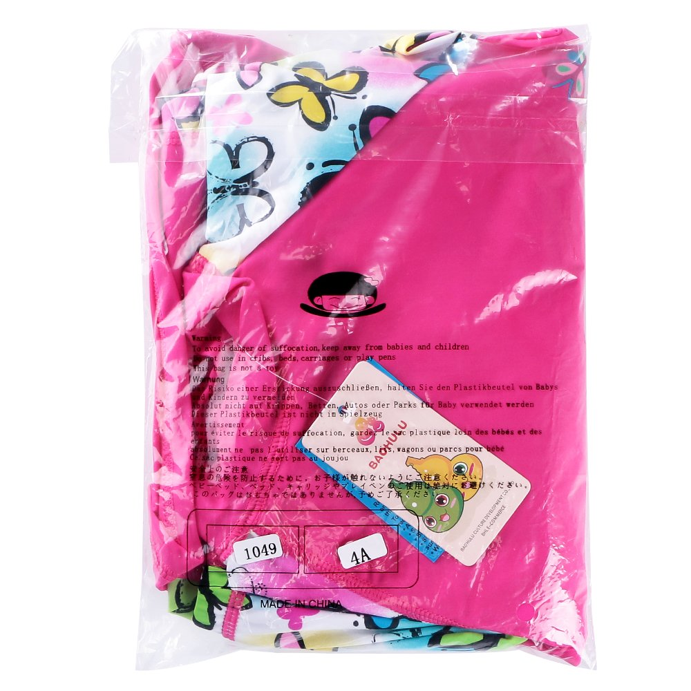 costume da bagno per bambina dai 3 ai 12anni Huanqiue 50+ di protezione solare UV stampa floreale