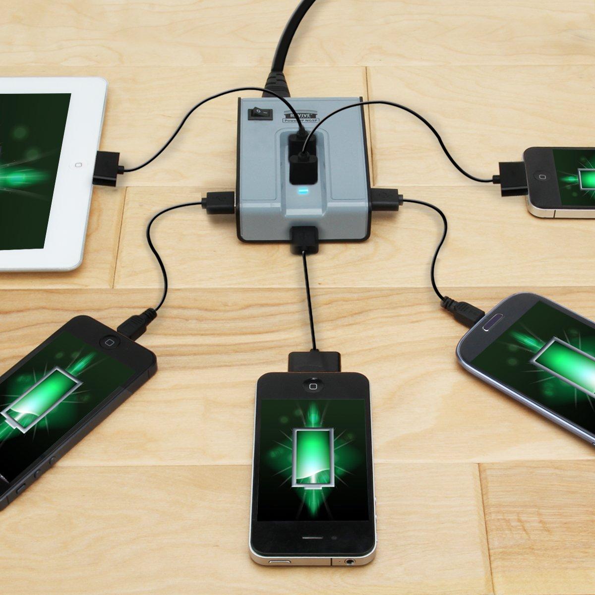 Amazon.com: ReVIVE PowerUP NG5P 5-Port USB Desktop Charging Station ...