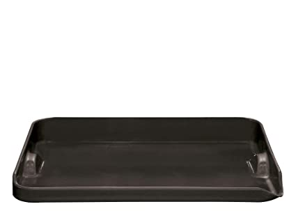 "Emile Henry Made In France Flame BBQ Plancha, 15.4 x 12.2"", Charcoal"