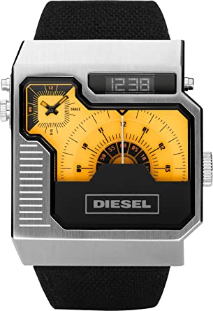 orologio diesel quadrato
