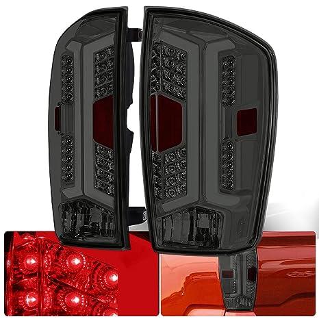 Amazon.com: Faros traseros de cromo para lentes de humo LED ...